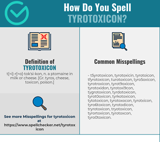 Correct spelling for Tyrotoxicon