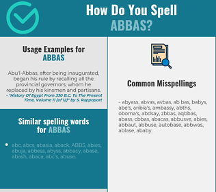 Correct spelling for Abbas