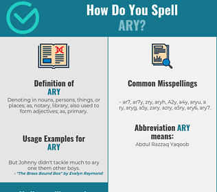 Correct spelling for Ary