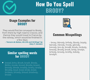 Correct spelling for Brody
