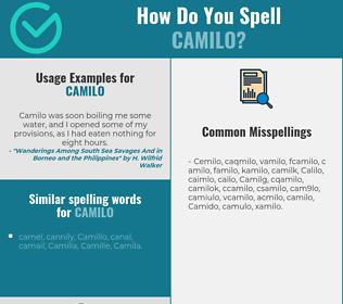 Correct spelling for Camilo