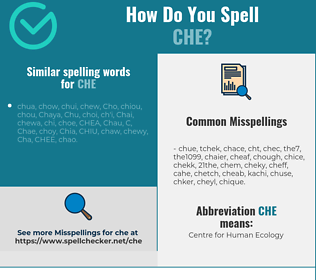 Correct spelling for Che
