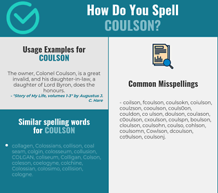 Correct spelling for Coulson