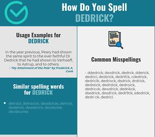 Correct spelling for Dedrick