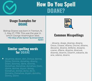 Correct spelling for Doane