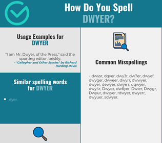 Correct spelling for Dwyer