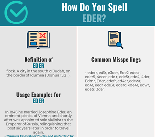 Correct spelling for Eder