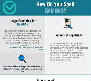 Correct spelling for Emmons