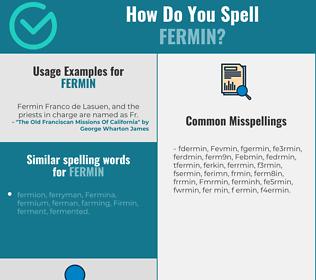Correct spelling for Fermin
