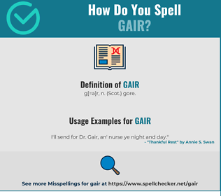 Correct spelling for Gair