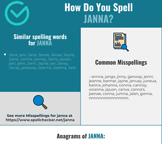 Correct spelling for Janna