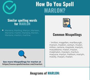Correct spelling for Marlon