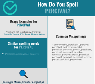 Correct spelling for Percival