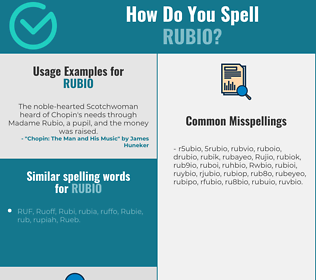 Correct spelling for Rubio