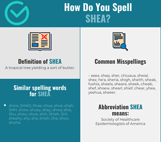 Correct spelling for Shea