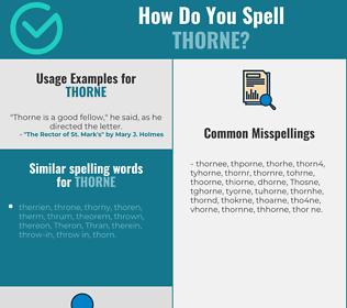 Correct spelling for Thorne