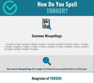 Correct spelling for Torger