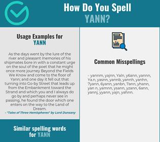 Correct spelling for Yann