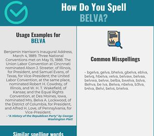 Correct spelling for Belva