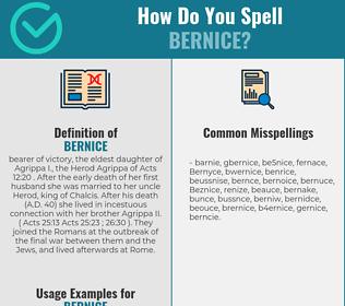 Correct spelling for Bernice