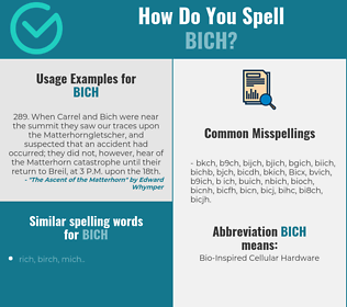 Correct spelling for Bich