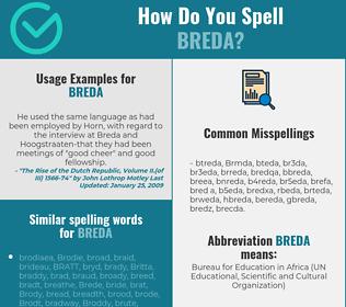Correct spelling for Breda