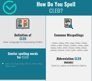 Correct spelling for Cleo