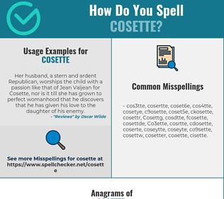 Correct spelling for Cosette