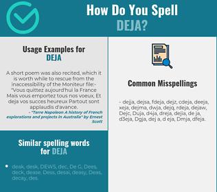Correct spelling for Deja