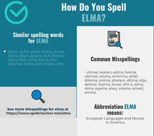 Correct spelling for Elma