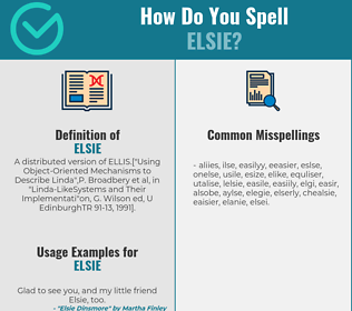 Correct spelling for Elsie