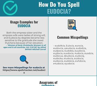 Correct spelling for Eudocia