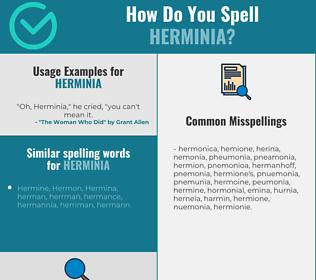 Correct spelling for Herminia