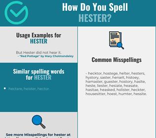 Correct spelling for Hester