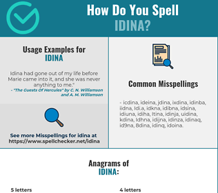 Correct spelling for Idina
