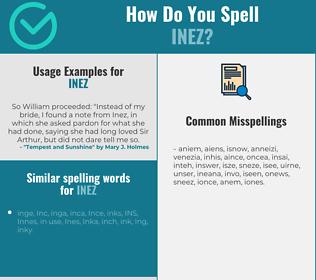 Correct spelling for Inez