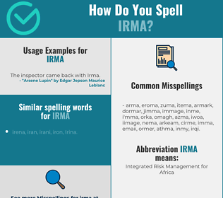Correct spelling for Irma