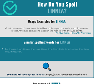 Correct spelling for Linnea