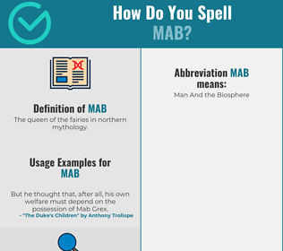 Correct spelling for Mab