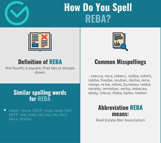Correct spelling for Reba