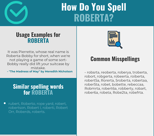 Correct spelling for Roberta