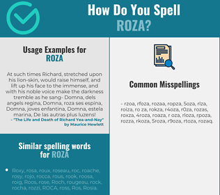 Correct spelling for Roza