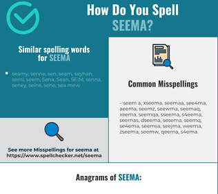 Correct spelling for Seema