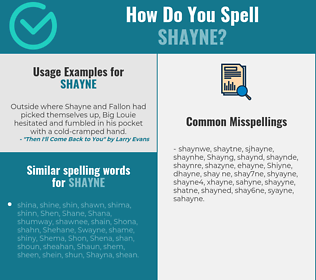 Correct spelling for Shayne