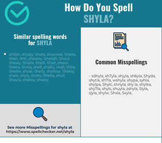 Correct spelling for Shyla