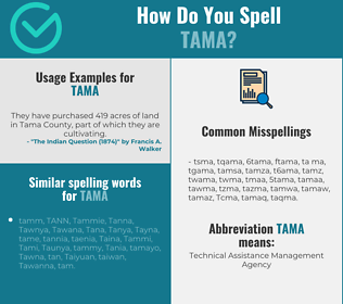 Correct spelling for Tama