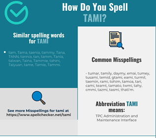 Correct spelling for Tami