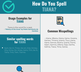 Correct spelling for Tiana