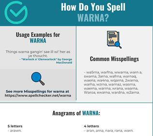 Correct spelling for Warna