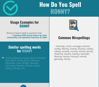 Correct spelling for Ronny